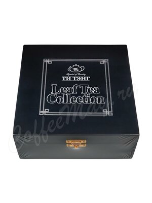 Подарочный набор Ти Тэнг в деревянной шкатулке. Чай листовой в мет. банках 300 г