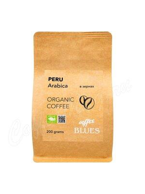 Кофе Блюз Peru Organic Craft в зернах 200 г (Крафт пакет)