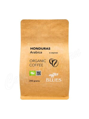 Кофе Блюз Honduras Organic Craft в зернах 200 гр (Крафт пакет)