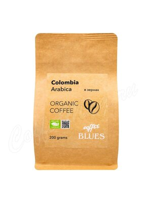 Кофе Блюз Colombia Organic Craft в зернах 200 г