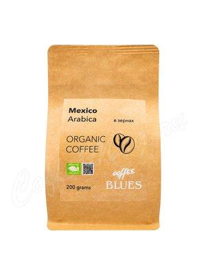 Кофе Блюз Mexico Organic Craft в зернах 200 гр (Крафт пакет)