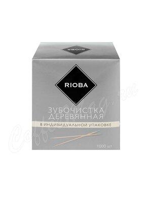 Rioba Зубочистки деревянные 6,5 см (1000 шт)