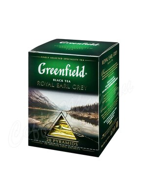 Чай Greenfield Royal Earl Grey черный в пирамидках 20 шт.