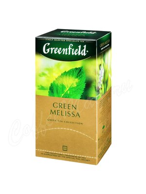 Чай Greenfield Green Melissa зеленый  в пакетиках