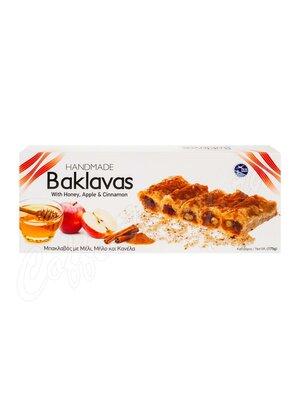 Греческая пахлава Minos Minos (Baklavas) с медом, яблоко, корица 175 гр