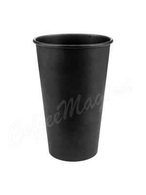 Стакан Формация однослойный, Total Black 400 мл (50 шт) черный