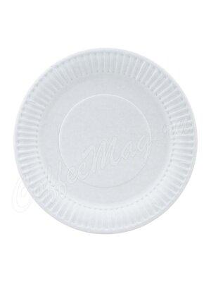 Тарелка бумажная Snack Plate белая мелованная d200 мм (100шт)