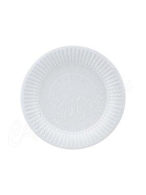 Тарелка бумажная Snack Plate белая мелованная d165 мм (100шт)