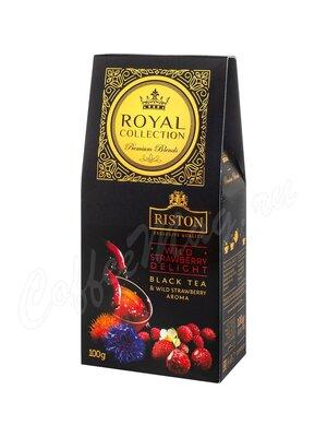 Чай Riston Wild Strawberry черный ароматизированный 100 г