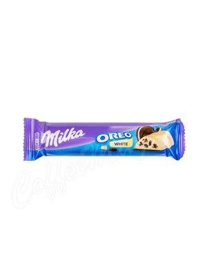Milka Шоколадный батончик Oreo  White  41 г