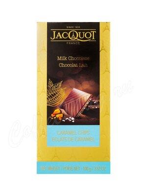 Молочный шоколад Jacquot с кусочками карамели и кристаллами морской соли 100 г
