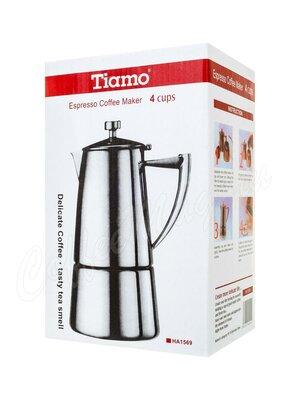 Кофеварка гейзерная Tiamo нержавеющая сталь на 4 персоны (B20-400)
