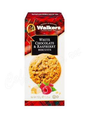 Бисквитное печенье Walkers Белый шоколад и малина 150 г