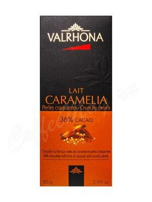 Шоколад Valrhona Caramelia молочный с хрустящими вафлями 85 г (плитка)