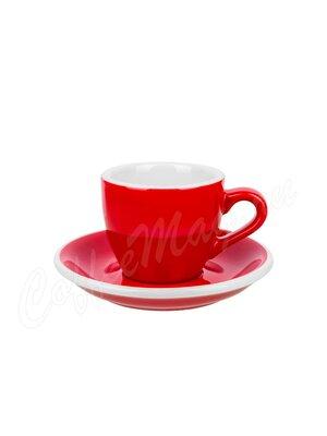 Loveramics Чашка с блюдцем Egg 80 мл красный