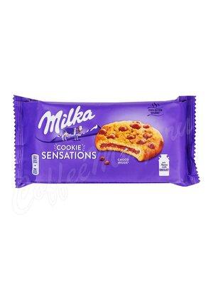 Бисквитное печенье Milka Sensations choc inside 156 гр