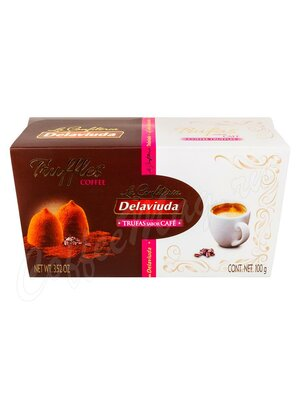 Delaviuda Шоколадные конфеты трюфели со вкусом кофе 100 гр