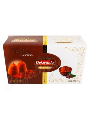 Delaviuda Шоколадные конфеты трюфели с какао 100 гр