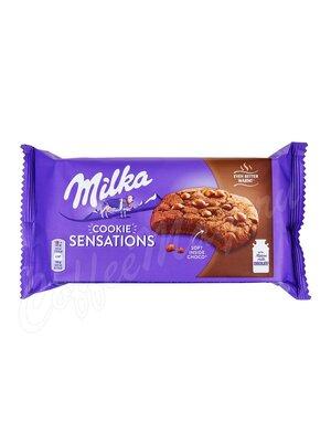 Бисквитное печенье Milka Sensations soft choc inside 156 г