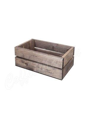 Ящик дерево малый дуб состаренный 21*13*9 0020352