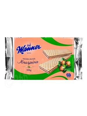 Manner Knuspino (Кнуспино) Вафли с ореховым кремом 110 г