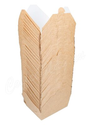 Бумажный контейнер Fold Box, Крафт 950 мл 170*135*50 (50шт)