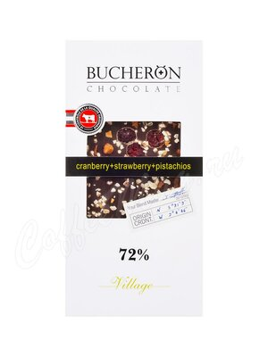 Шоколад Bucheron горький 100 г (клюква, клубника, фисташки)