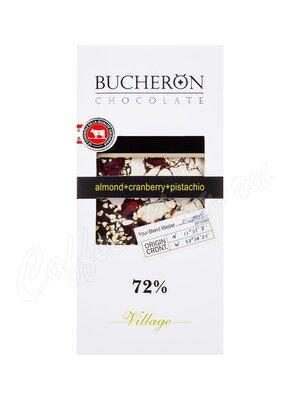 Шоколад Bucheron горький 100 г (миндаль, клюква, фисташки)