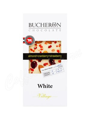 Шоколад Bucheron белый 100 г (миндаль, клюква, клубника)