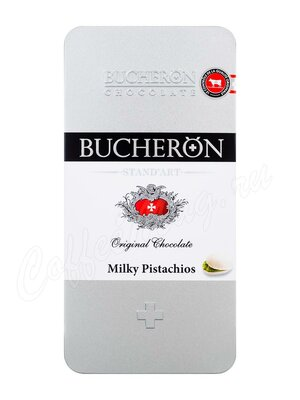 Шоколад Bucheron Молочный с фисташками 100 г в мет. пенале