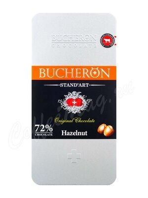 Шоколад Bucheron Горький с фундуком 100 г в мет. пенале