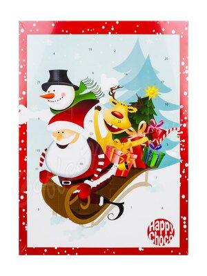 Chocoland Рождественский календарь На санках, молочный шоколад 50 г