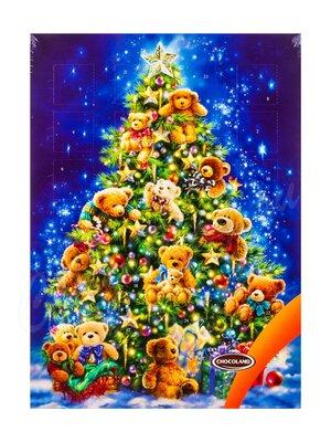 Chocoland Рождественский календарь Новогодняя ёлка с мишками, молочный шоколад 50 г