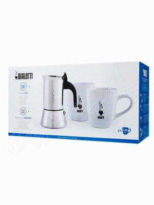 Bialetti Venus Набор: гейзерная кофеварка на 4 чашки + 2 кружки