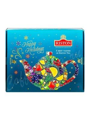 Riston Набор чая ассорти 6 видов Счастливых праздников