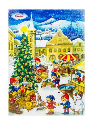 Шоколад Carla Рождественский календарь молочный 50 гр
