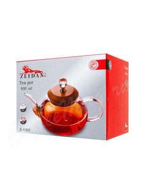 Чайник заварочный Zeidan Z-4305 стекло, бамбук 800 мл