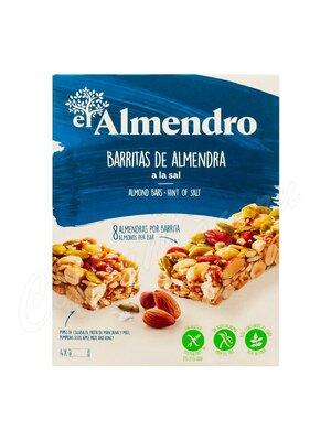 El Almendro Ореховый батончик из миндаля и фундука с солью 84 г