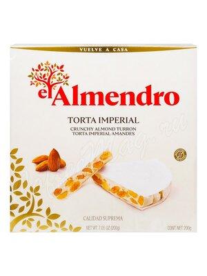 El Almendro Torta Imperial Хрустящий миндальный туррон 200 гр