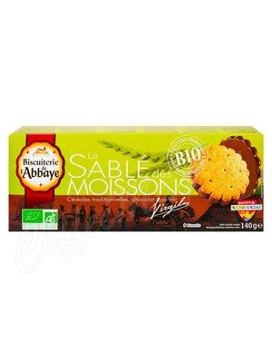 Biscuits de lAbbaye Печенье сдобное Органическое со злаками и молочным шоколадом 140 г
