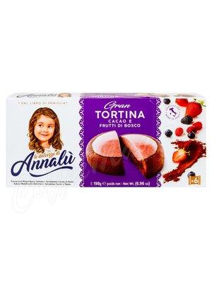 Annalu Тарталетки шоколадные с начинкой из лесных ягод 198 г