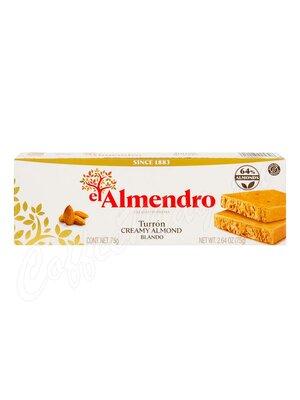 El Almendro Миндальный сливочный туррон 75 гр