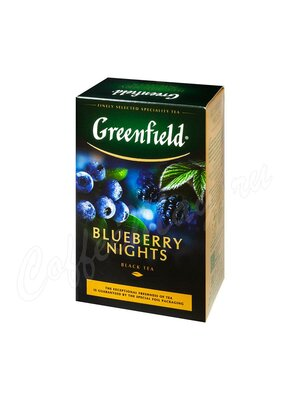 Чай Greenfield Blueberry Nights черный 100 г