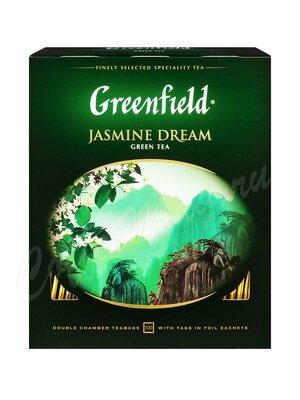 Чай Greenfield Jasmine Dream зеленый в пакетиках 100 шт.
