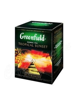 Чай Greenfield Tropical Sunset травяной в пирамидках 20 шт.