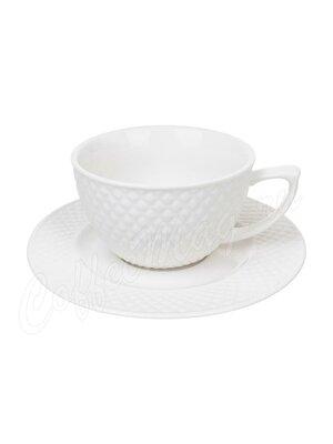 Чайный набор Диаманд на 1 персону 2 предмета 220 мл (359-371)