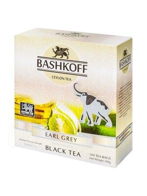 Чай Bashkoff Earl Grey черный с бергамотом в пакетах 100 пак