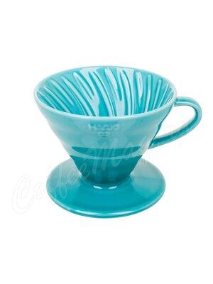 Hario Воронка Керамическая для приготовления кофе, 4 порции Тиффани (3VDC-02-TQ-UEX)