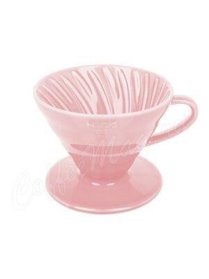Hario Воронка Керамическая для приготовления кофе, 4 порции Розовый (VDC-02-PPR-UEX)