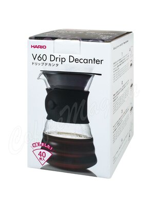 Hario Декантер с воронкой Черный (6чаш) 700 мл (VDD-02B) в комплекте 40 шт фильтров